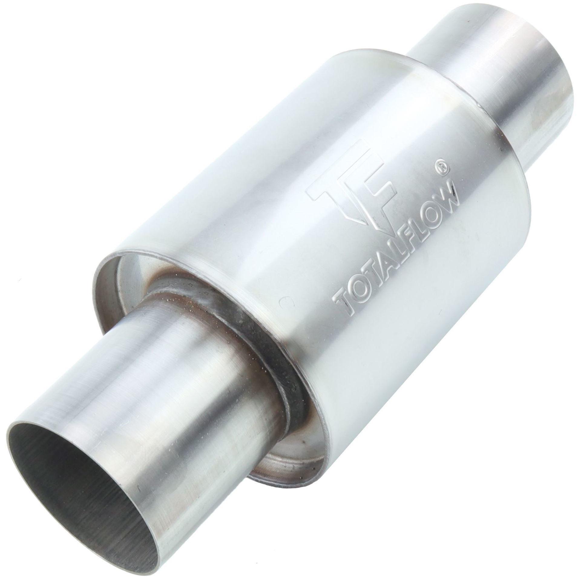 304 Stainless Steel 3 Inch Inner Diameter Inlet//Outlet TOTALFLOW 22119 Straight Through Universal Exhaust Muffler