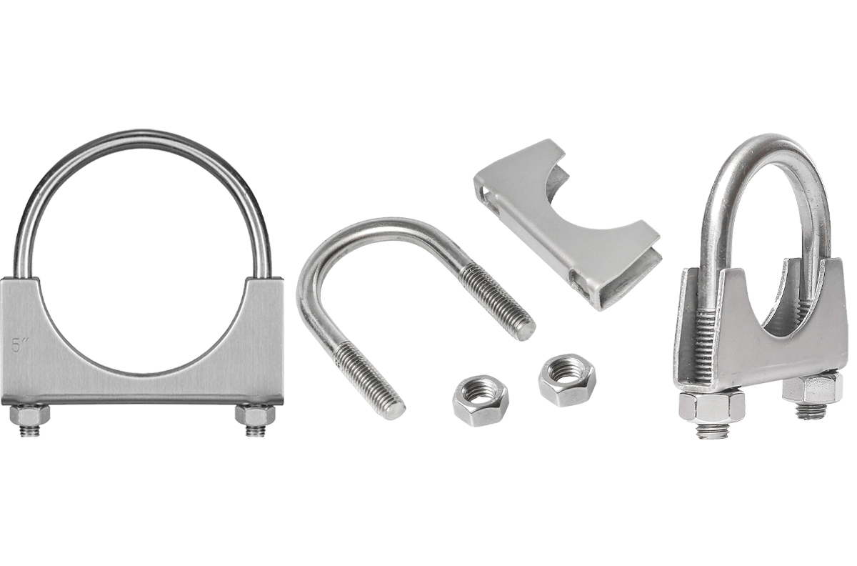 Picture for category U-Bolt   Saddle Exhaust Muffler Clamps