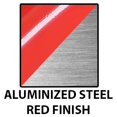 Aluminized Steel - Red Paint Finish